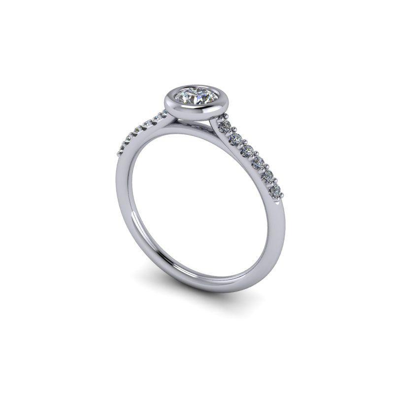 sokköves eljegyzési gyűrű